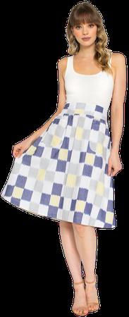 Sunshine Plaid Yellow Fair Trade Midi Skirt– Passion Lilie