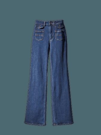 Τζιν παντελόνι καμπάνα με τσέπες - Mulher - Massimo Dutti