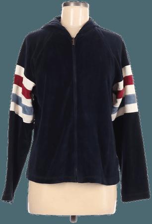 Liz Claiborne Solid Black Blue Zip Up Hoodie Size M - 68% off | thredUP