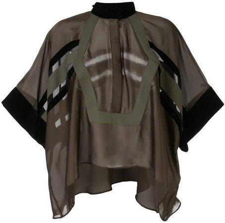 asymmetrical tunic blouse
