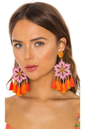 Hibiscus Rosa Earrings