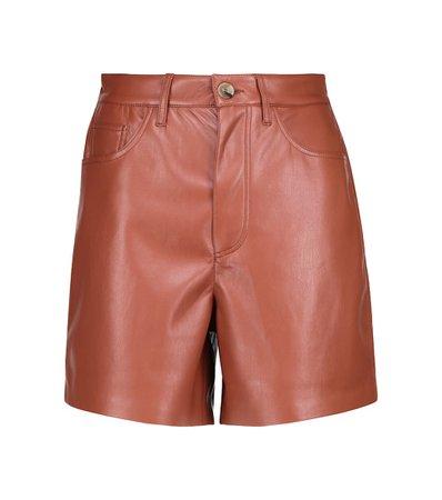 Nanushka - Leana faux leather shorts   Mytheresa