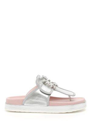 Roger Vivier Rv Broche Thong Sandals