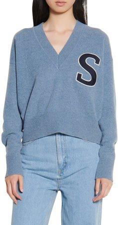V-Neck Crop Wool Sweater