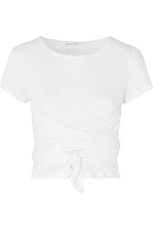 The Line By K | Jeanne T-Shirt aus Baumwoll-Jersey mit Knotendetail | NET-A-PORTER.COM