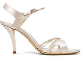 Cutout Satin Sandals