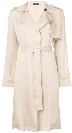 belted midi trench coat