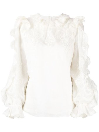 Zimmermann Blusa The Lovestruck Com Detalhe De Babados - Farfetch