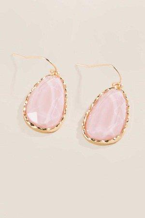 Adrielle Faceted Teardrop Earrings | francesca's