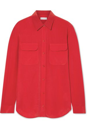 Equipment | Slim Signature washed-silk shirt | NET-A-PORTER.COM