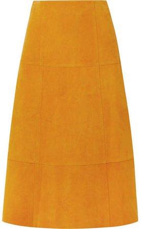 Ryker Suede Midi Skirt - Marigold