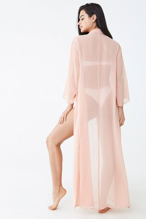 Chiffon Swim Cover-Up Shirt Dress | Forever 21