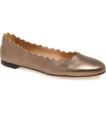 Chloé 'Lauren' Scalloped Ballet Flat (Women) | Nordstrom