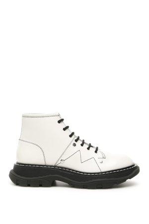 Alexander McQueen Boots With Contrast Seams