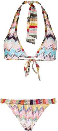 Zigzag-Knitted Bikini
