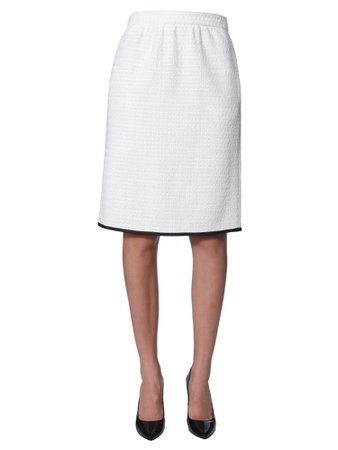 Boutique Moschino Bouclè Wool Skirt