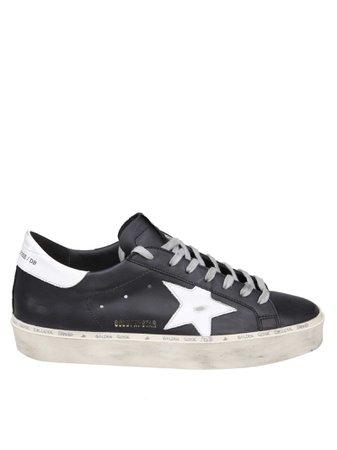 Golden Goose Black Leather Hi-star Sneakers