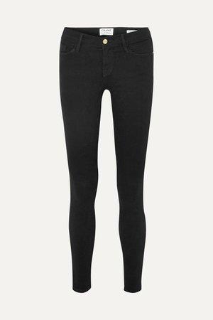 Black Le Skinny de Jeanne mid-rise jeans | FRAME | NET-A-PORTER