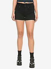 HT Denim Black Super Skinny Shorts