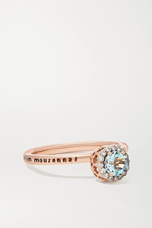 Rose gold Beirut Basic 18-karat rose gold, aquamarine and diamond ring | Selim Mouzannar | NET-A-PORTER