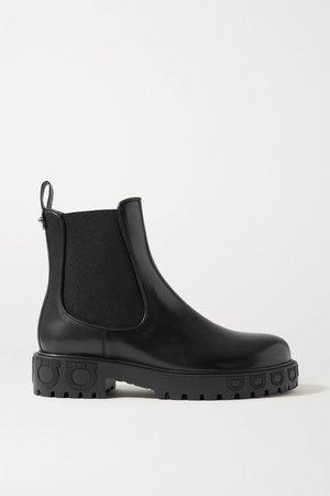 Black Varsi leather Chelsea boots   Salvatore Ferragamo   NET-A-PORTER