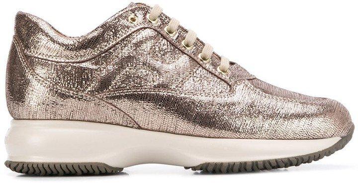 Metallic Finish Sneakers