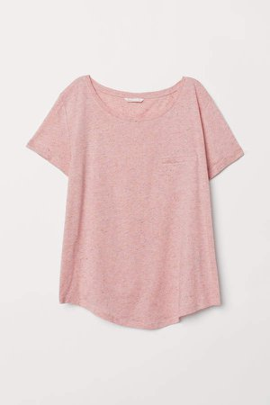 Slub Jersey T-shirt - Pink