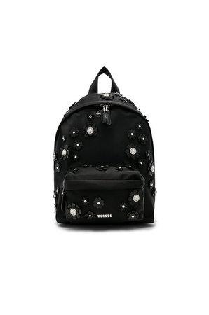 Backpack Black flowers