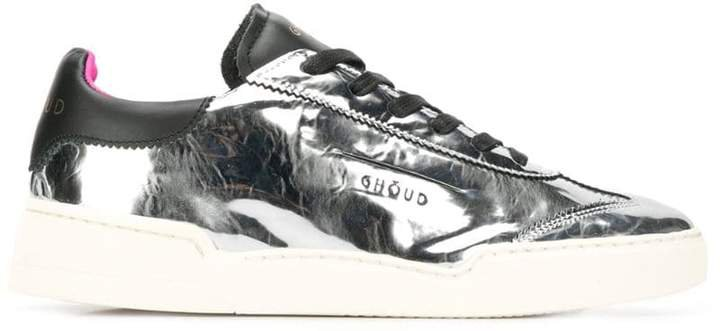Ghoud metallic lace-up sneakers