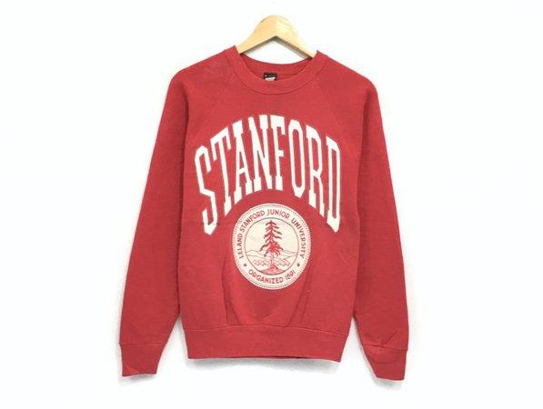 Vintage Stanford University Crewneck Sweatshirt Big Print   Etsy