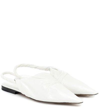 Bottega Veneta - BV Point leather ballet flats | Mytheresa