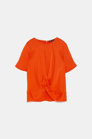 KNOTTED BLOUSE - View All-SHIRTS | BLOUSES-WOMAN | ZARA United States