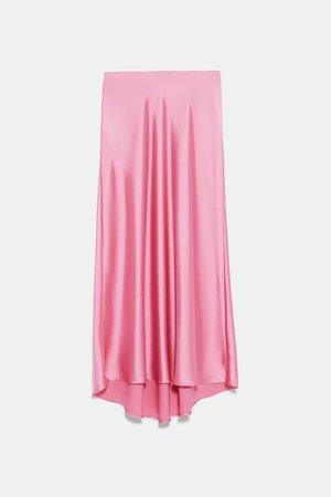 SATIN SKIRT - View All-SKIRTS-WOMAN | ZARA United States pink