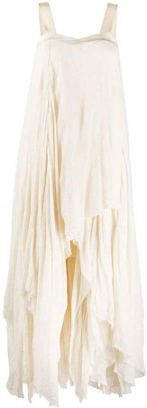 Tiered Waterfall Hem Maxi Dress