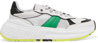 Speedster Leather And Mesh Sneakers - White