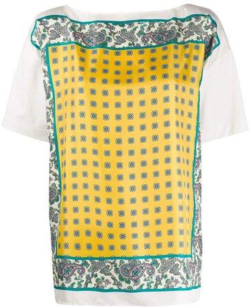 silk printed blouse
