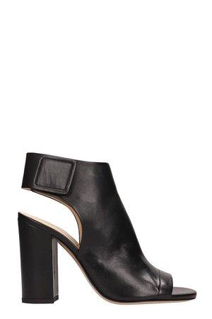 Fabio Rusconi Black Leather Sandals