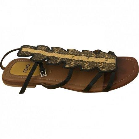 Yellow Python Sandals