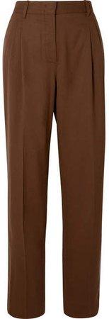 CASASOLA - Wool Straight-leg Pants - Chocolate