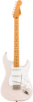Squier Classic Vibe '50s Stratocaster, White Blonde, Electric Guitar