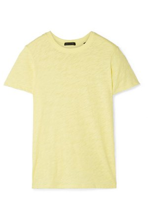 ATM Anthony Thomas Melillo | Schoolboy slub cotton-jersey T-shirt | NET-A-PORTER.COM