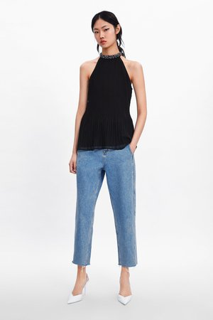 BEADED BLOUSE - View All-SHIRTS | BLOUSES-WOMAN | ZARA United States