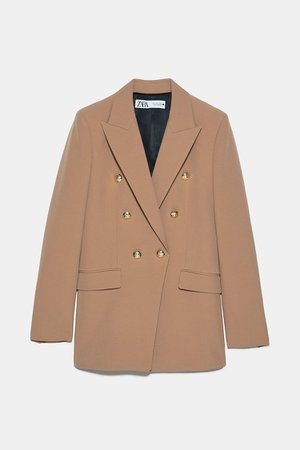DOUBLE BREASTED BUTTONED BLAZER   ZARA United States