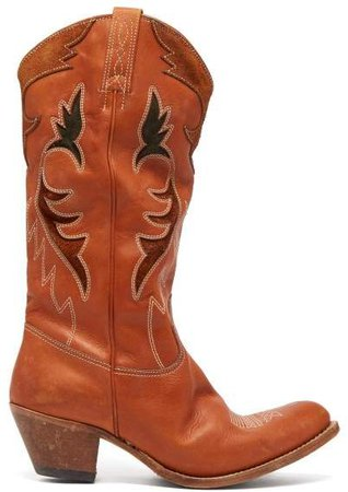 Indy Distressed Leather Calf Boots - Womens - Tan