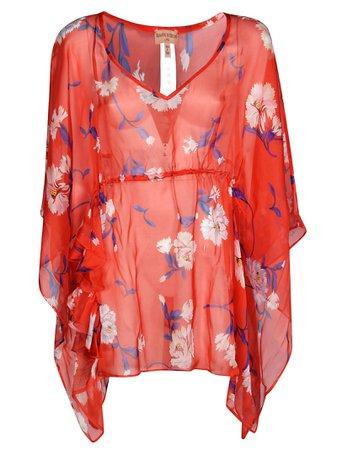 Scervino Beachwear Floral Print Top
