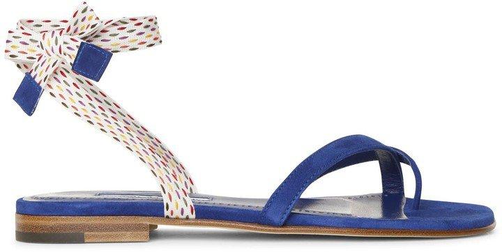 Nastrafla blue flat sandals