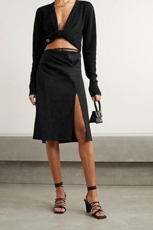 Black Cutout hemp-blend skirt   Jacquemus   NET-A-PORTER