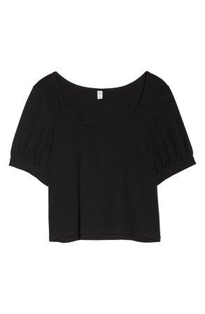 BP. Square Neck Tee (Plus Size) black