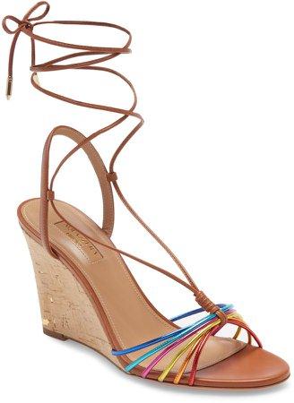 Whisper Rainbow Ankle Tie Wedge Sandal
