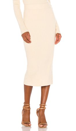 Camila Coelho Dahlia Skirt in Ivory | REVOLVE